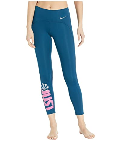 Nike Icon Clash Speed Tights 7/8 (Valerian Blue/Reflective Silver) Women