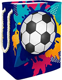 Vockgeng Ballon de Foot Bleu Accueil Organisation Panier de Rangement imperméable Pliable de Jouets de Jouets de Panier av...