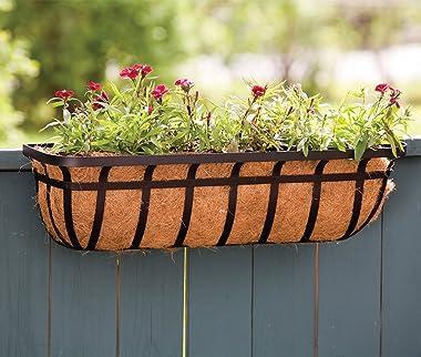 "Panacea Products Flat Iron Series 30-inch (30"") Window/Deck Planter, Black"