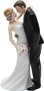 Cosmos Gifts 33266 Ceramic Wedding Couple Figurine, 7-Inch