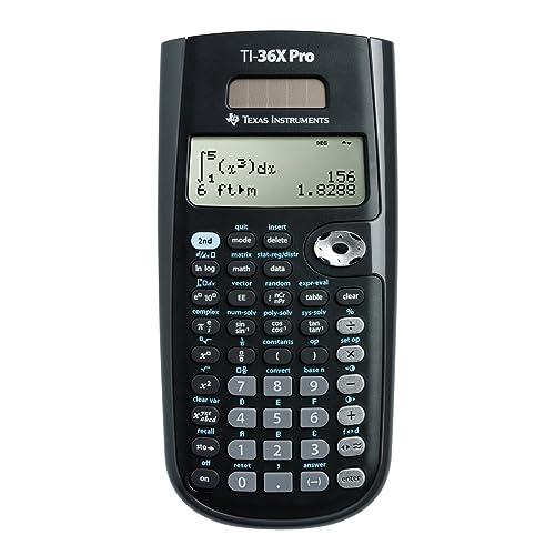 Texas Instruments TEX-TI36XPRO Calculatrice Scientifique Noir