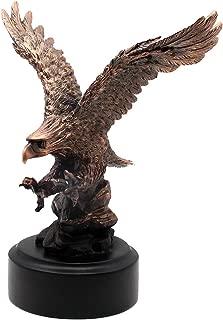 L7 Enterprises Bronze Look American Bald Eagle Swooping in On His Prey Sculpture   Figurine   Statue