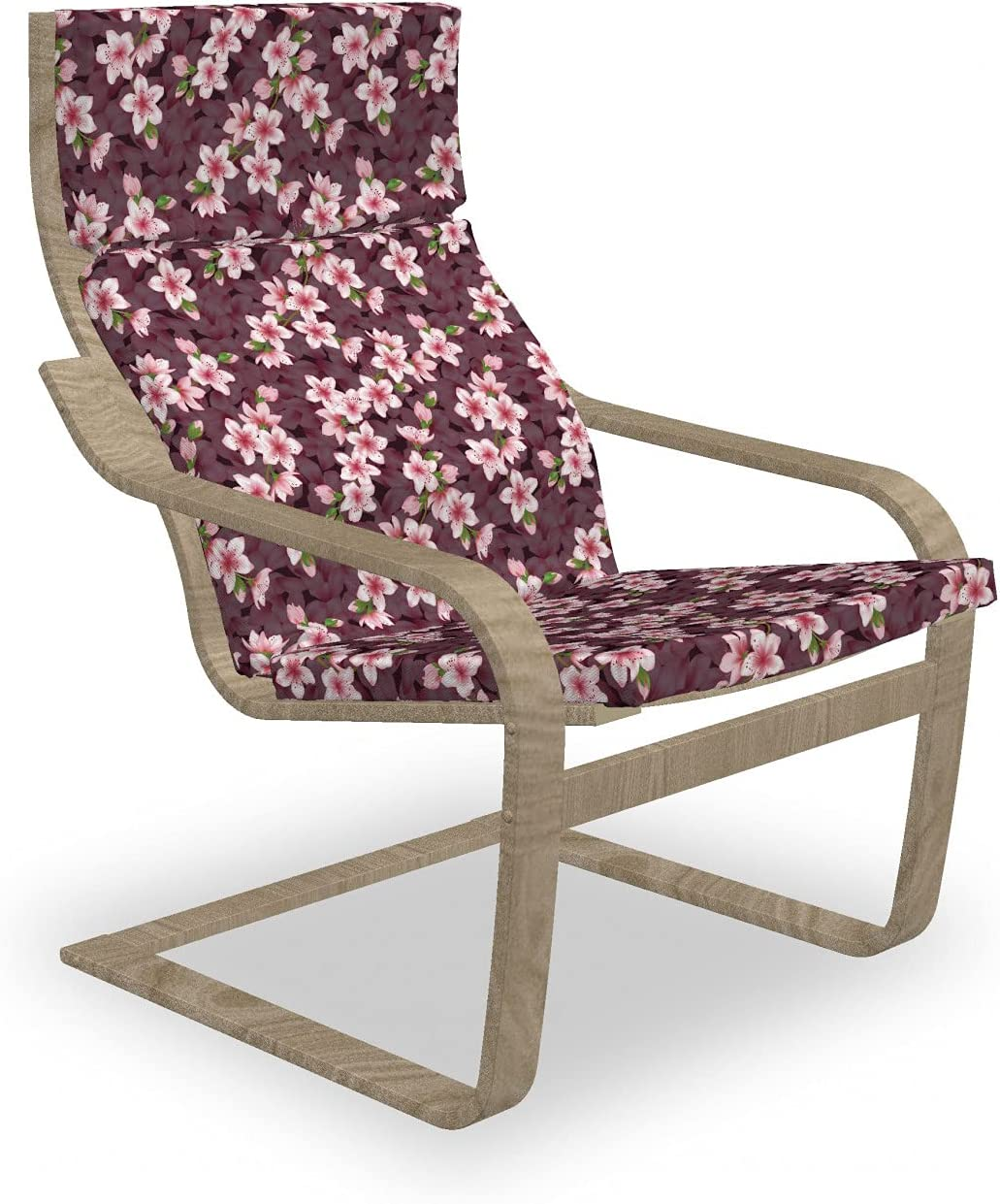 Free shipping on posting reviews Ambesonne Floral Armchair Pad and Slipcover Cherry 1 year warranty S Blossom of