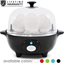 Maxi-Matic EGC-007B Easy Electric Egg Poacher, Omelet & Soft, Medium, Hard-Boiled Measuring Cup Included, 7 Capacity, Black