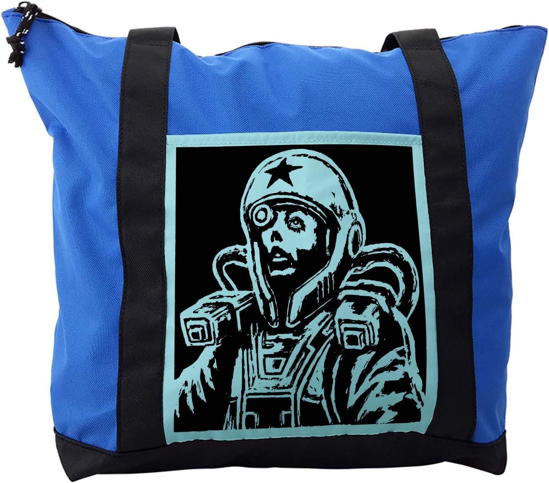 Ambesonne Astronaut Shoulder Bag, Female Astronaut, Durable with Zipper