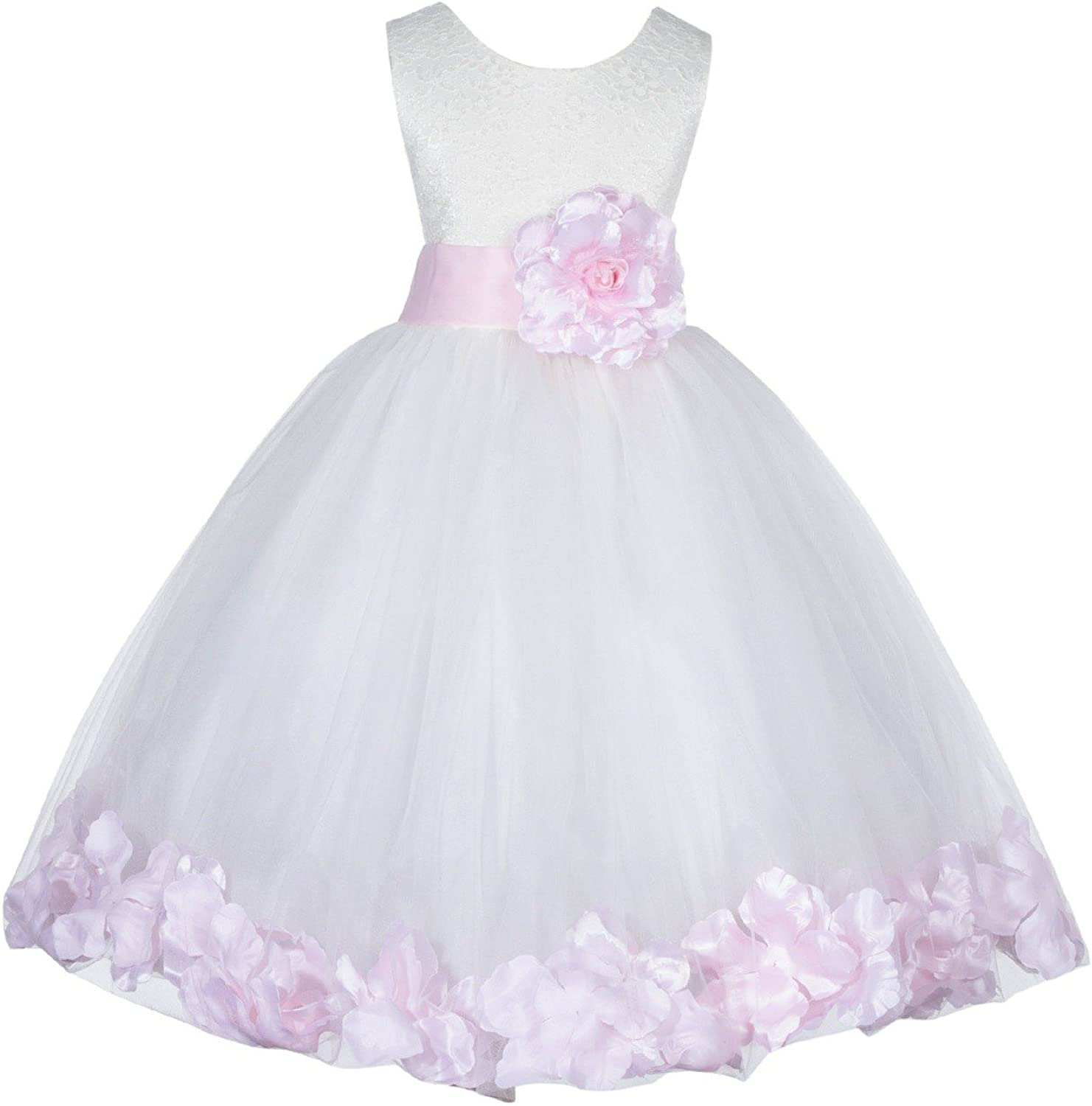 Ivory Lace Top Sale Tulle Floral Girl Petals Flower Christening Time sale Dress
