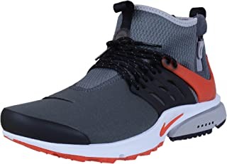 Mens Air Presto Mid Utility Grey/Orange-Black Leather Size 13