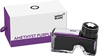 Montblanc Ink Bottle Amethyst Purple 124488 – Premium-Quality Refill Ink in Dark Purple for Fountain Pens, Quills, and Cal...