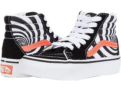 Vans Kids SK8-Hi (Little Kid) ((Swirl) Black/Fiery Coral) Boy