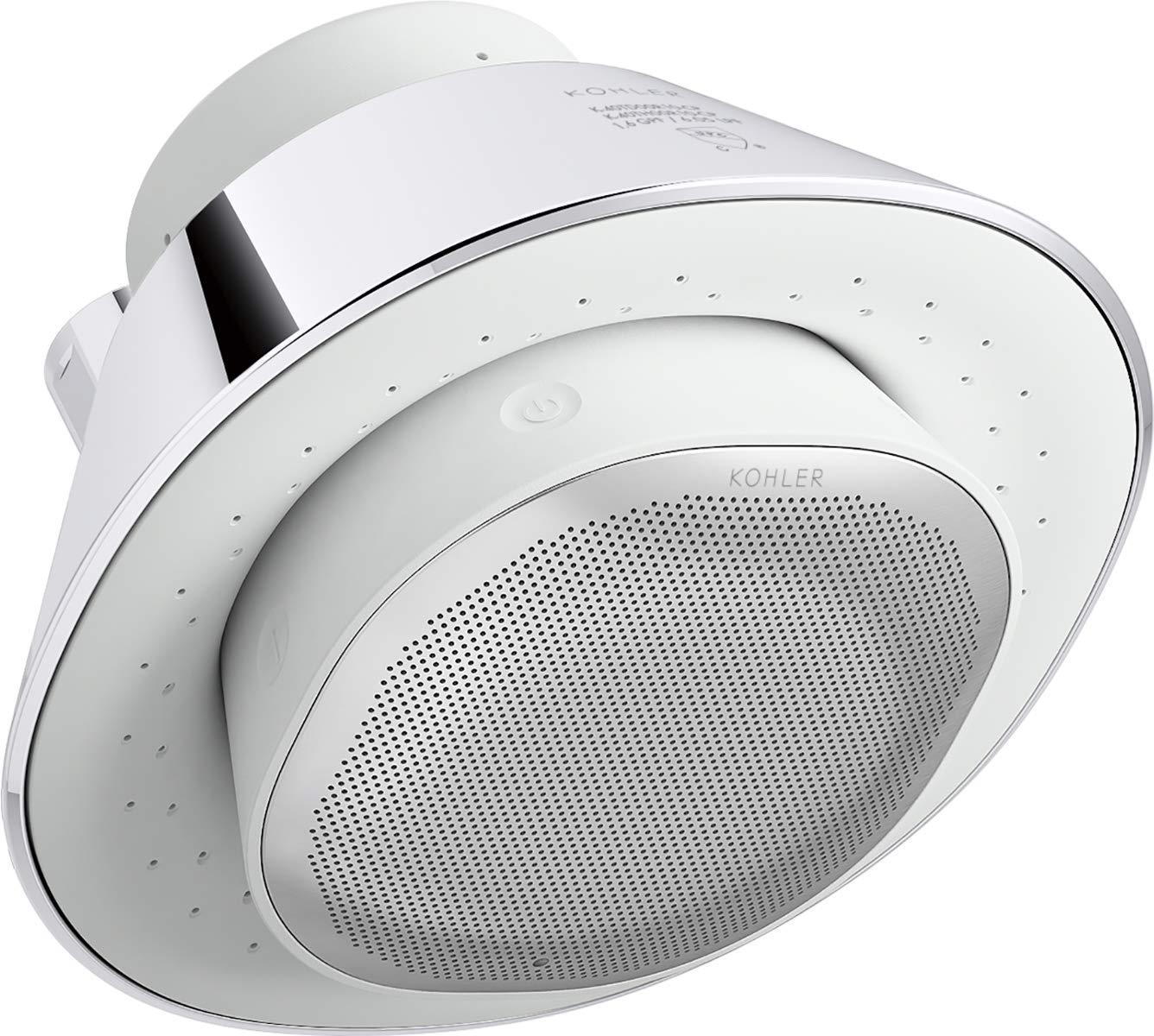 KOHLER Moxie Bluetooth Showerhead, Shower Speaker, Waterproof Speaker, Shower Radio, Rechargeable Speaker, Portable Speaker, 2.5 GPM, K-28238-NKE-CP, Polished Chrome