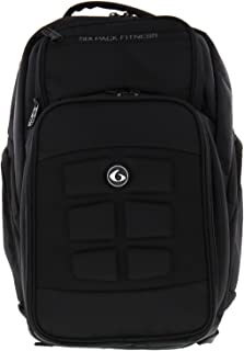 6 Pack Fitness Expedition 500 Backpack - Black Stealth Meal Management Bag