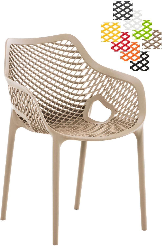 CLP XL-Bistrostuhl AIR aus Kunststoff I Stapelstuhl AIR mit Einer Sitzhhe von 44 cm I Outdoor-Stuhl mit Wabenmuster I erhltlich Schlamm