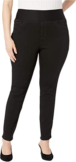 Plus Nina Solid Denim Jeans in Black