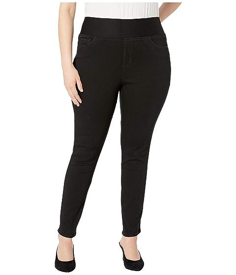 cf7d5daeb910 Foxcroft Plus Nina Solid Denim Jeans in Black at Zappos.com
