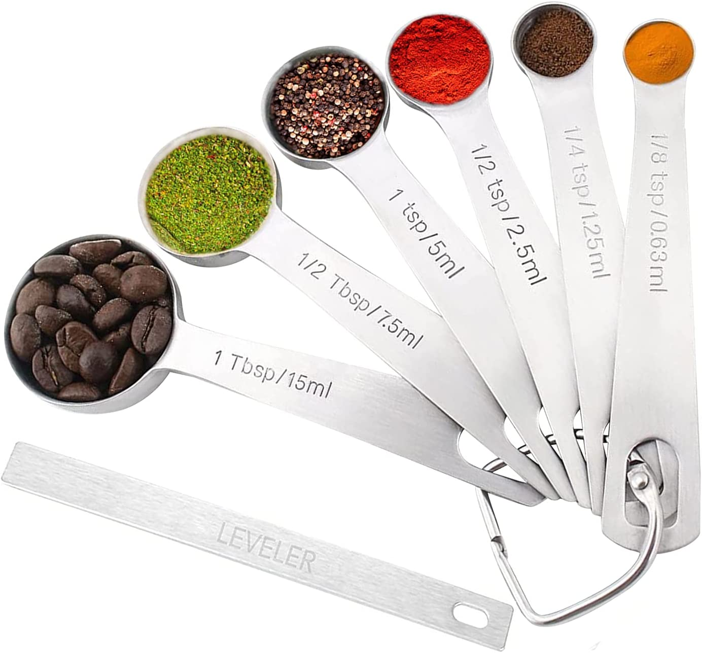cheap K Max 54% OFF BASIX Heavy Duty Round Steel Spoons Measuring Stainless Measu