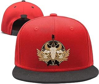 ZHJBVJD Guitar Skulls Wings and Pentagram Twill Mesh Classic Designer Baseball Hats Cap