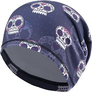 UHEREBUY Running Skull Cap/Beanie Cap/Helmet Liner/Dew rag/Chemo Cap/Bald Cap for Men and Women Hat Liner