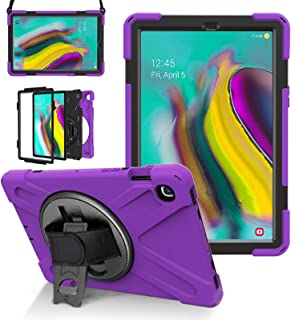 Galaxy Tab S5e 10.5 Case 2019, LITCHI SM-T720/T725 Rugged Case with 360 Degree Rotatable Hand Strap, Built-in Kickstand/Sh...