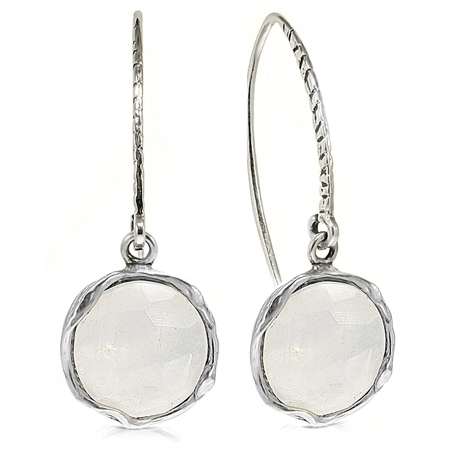 925 Sterling Silver Ranking TOP14 Natural Moonstone Dangle Women; Earrings For Max 45% OFF