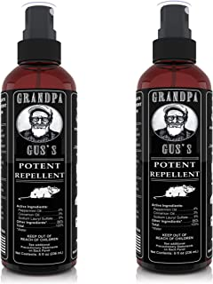 Grandpa Gus's Mouse Rodent Repellent Spray - Natural Peppermint Oil for Mice and Rat - 8 FL Ounce - 2 Bottles