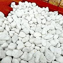天然石 玉石砂利 3-4cm サンプル(500g) スノーホワイト (ガーデニングに最適 白色砂利)