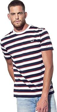 Kaporal - T-Shirt Regular Homme à Rayures en 100% Coton Bio - Rush - Homme