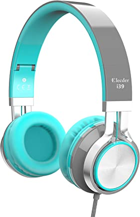 Elecder i39 Headphones with Microphone for Kids Children...