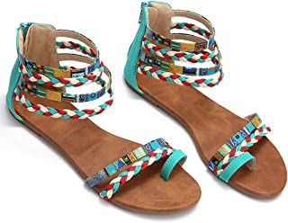 Best bohemian flat sandals Reviews