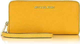 مايكل كورس جيت سيت ترافل مع غطاء حماية جلد متعدد الوظائف للنساء - بني (35F8GTVW7L)