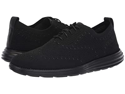 Cole Haan Original Grand Stitchlite Wingtip Oxford (Black/Black) Men