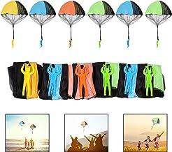 Ulikey 6 Stück Fallschirmspringer Spielzeug, Kinder Hand Werfen Fallschirm Kreative Spielzeug Geschenk für Draußen Zufällige Farbe