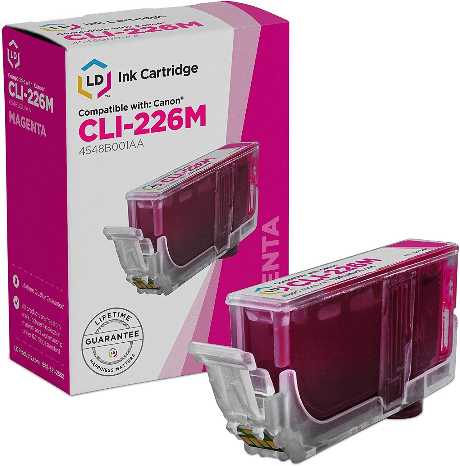 LD Compatible Ink Cartridge Replacement for Canon CLI-226M 4548B001AA (Magenta)