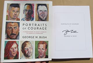 George W Bush signed book Portraits of Courage 1st printing autographed