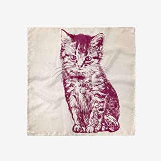 Lunarable Cat Head Scarf, Domestic Kitty with Whiskers, Hair Wrap
