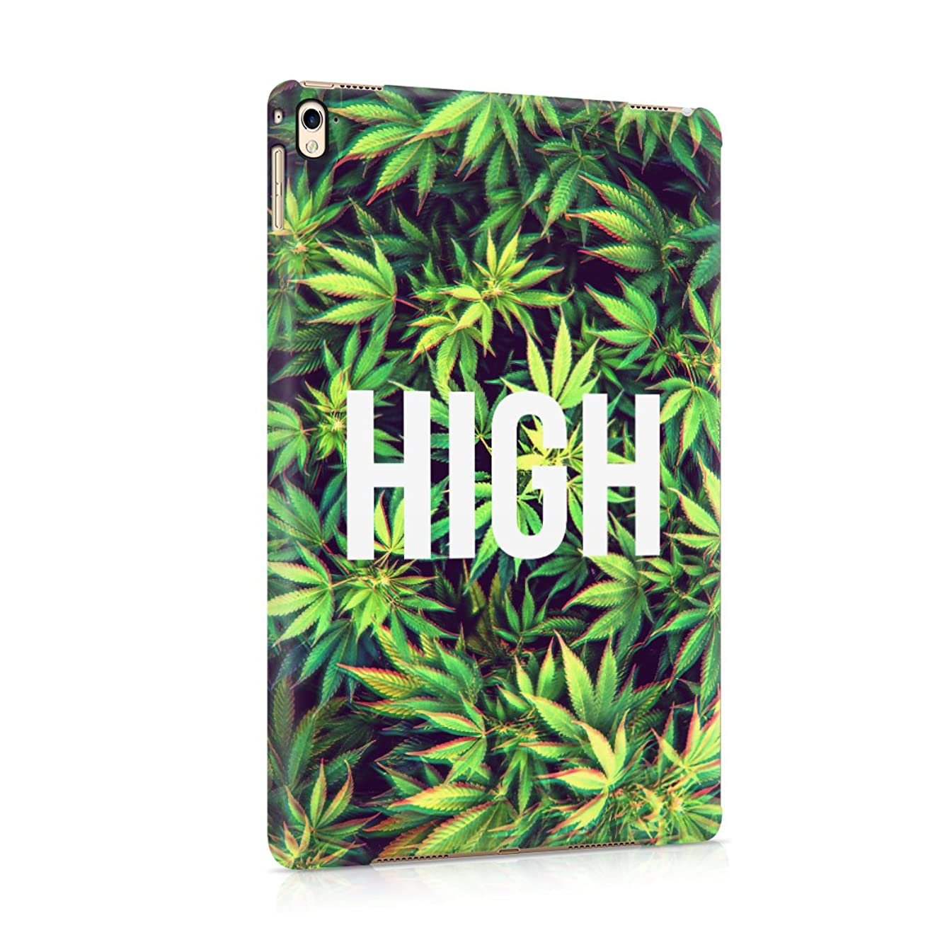 High Trippy Cannabis Leaves Pattern Plastic Tablet Snap On Back Cover Shell For iPad Pro 9.7