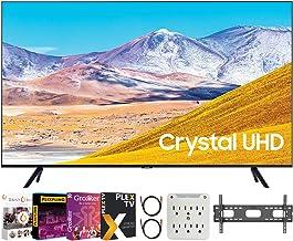 "SAMSUNG UN50TU8000 50"" 4K Ultra HD Smart LED TV (2020 Model) Bundle with Premiere Movies Streaming 2020 + 30-70 Inch TV Wa..."