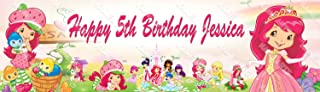 Personalized / Customized Strawberry Shortcake Name Poster Wall Decor Door Birthday Art Banner