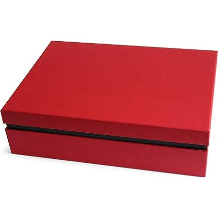 Ritter Design Boîte de rangement/boîte cadeau de qualité supérieure avec couvercle | dissimulée par papier de référence | Convient pour DIN A4 | Fabriqué en Allemagne | Rouge/noir