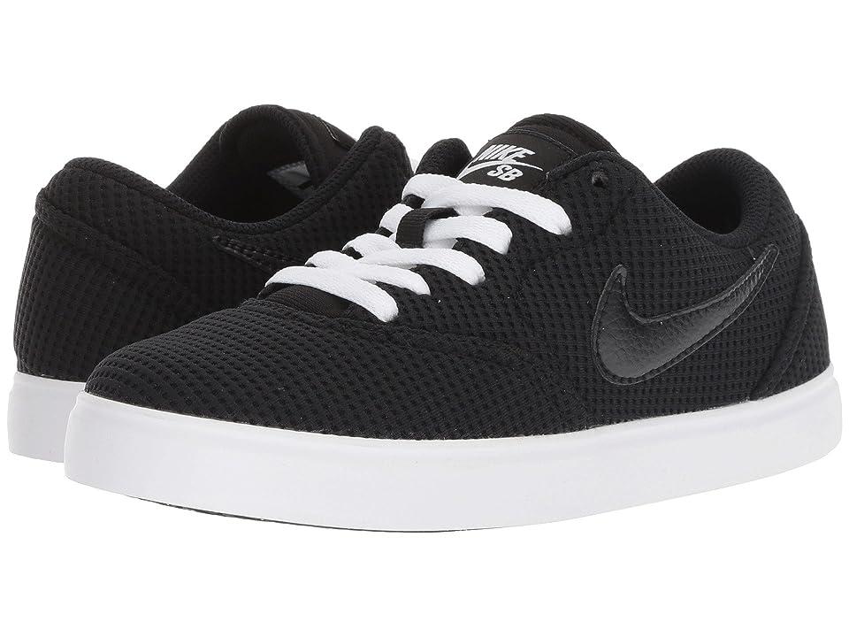 Nike SB Kids Check Canvas (Big Kid) (Black/Black/White) Boys Shoes
