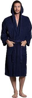 Men's Turkish Terry Cloth Robe, Thick Hooded Bathrobe