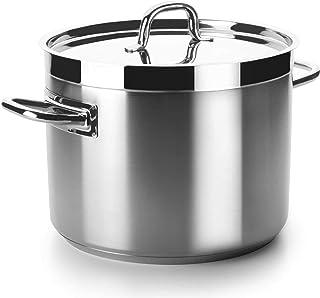 Lacor - 54119 - Olla Baja Con Tapa Chef Luxe 20 Cm Inox