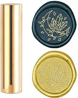 craspire Cire Sceau Timbre Lune, Timbres de Cire à Cacheter en Métal Mini Joint de Cire de Pistolet de Timbre en Laiton 15...