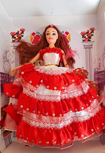 APK Dancing Fashion Girl Doll with Gorgeous Dress Multicolour