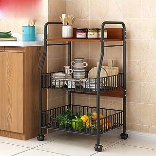 Four micro-ondes rack d'armoires de cuisine étagèr Support De Cuisine Durable Baker Utility Storage Shelf 3-Tier Étagère A...