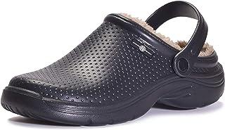 Men's Women's Lined Clogs Waterproof Winter House Slippers Warm Fuzzy Anti-Slip Garden Shoes...
