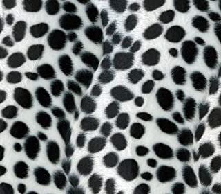 Velboa Fabric Faux Fake Animal Fur White and Black Dalmatian / 60
