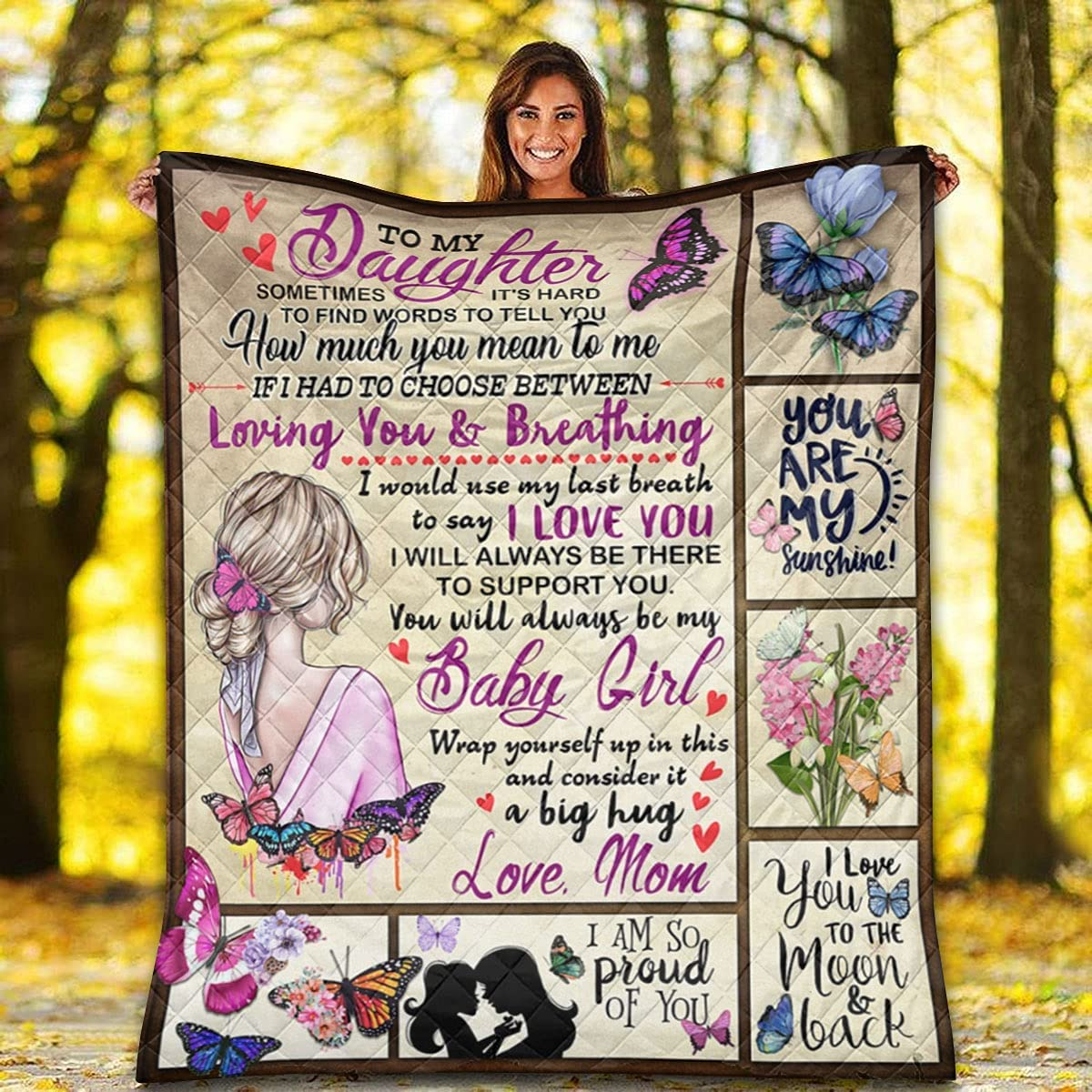 to My Daughter from Mom Quilt - Girl I Love Max 62% OFF You List price P Little