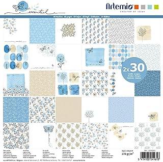 Papier Scrapbooking Artemio - Collection Mon essentiel - 30,5 x 30,5 cm - 60 pcs