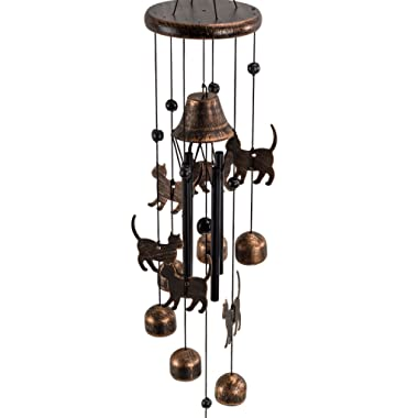 Dawhud Direct Cats Outdoor Garden Decor Wind Chime