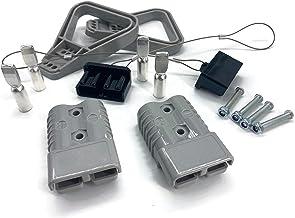 Conjunto de conectores para carretilla elevadora, conectores del cable de carga de la batería 175A 35 mm² cable de conexió...